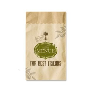 For Best Friends - 4 Bestecktaschen aus Packpapier