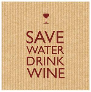 Save Water Cocktail Servietten