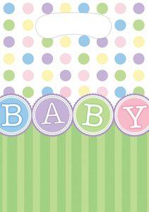 8 Party Tütchen Baby Party