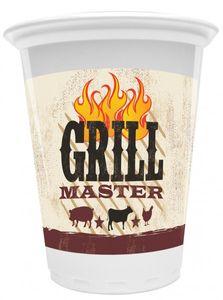 8 große Plastik Becher Grill Meister 473 ml