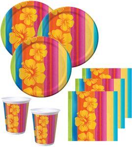 32 Teile Sommer Party Deko Set Aloha Summer 8 Personen