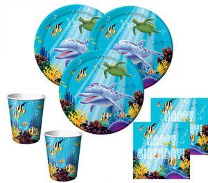 48 Teile Ozean Geburtstags Deko Set für 16 Kinder
