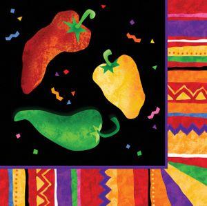 16 kleine Servietten Fiesta Party