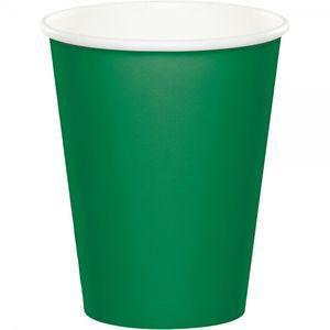 8 Papp Becher Smaragd Grün