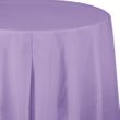 Runde Plastik Tischdecke Lavendel