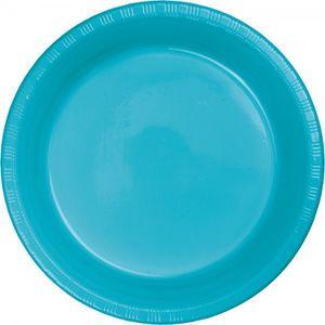 20 Plastik Teller Bermuda Blau – Bild 1