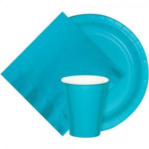 24 Pappteller Bermuda Blau  – Bild 2