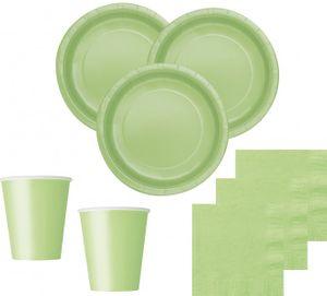 8 Papp Teller Apfel Grün – Bild 2