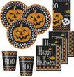 33 Teile Formel Halloween Deko Set Kürbis 8 Personen