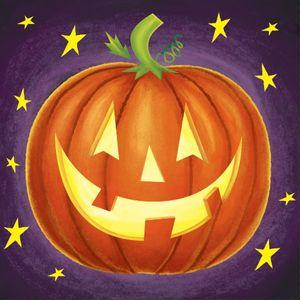 16 kleine Halloween Serviette Kürbis Kunst