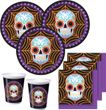 32 Teile Halloween Party Deko Set Day of the Dead 8 Personen