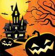 16 kleine Halloween Servietten Geistervilla
