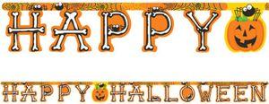 Happy Halloween Girlande Grusel Freunde