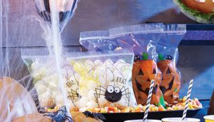 12 Halloween Zipper Zellophantüten Kürbis – Bild 2