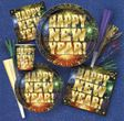 Silvester Feuerwerk Folienballon Happy New Year