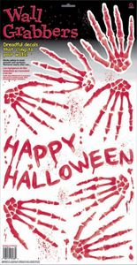 Halloween Wand Aufkleber blutige Handabdrücke