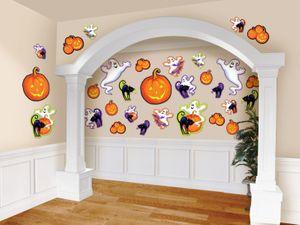 30 Halloween Pappschilder Kürbis Freunde