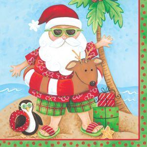 34 Teile Weihnachts Deko Set Relaxing Santa 8 Personen – Bild 4