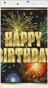 Tischdecke Happy Birthday Feuerwerk