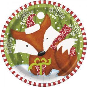 8 Teller Weihnachten der Waldtiere
