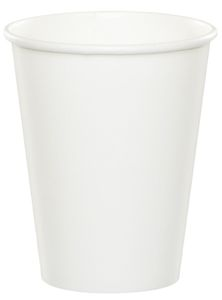8 Papp Becher Weiß