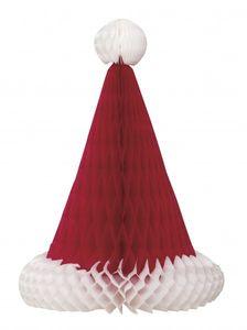Rote Weihnachtsmütze Tischaufsteller Faltdekoration