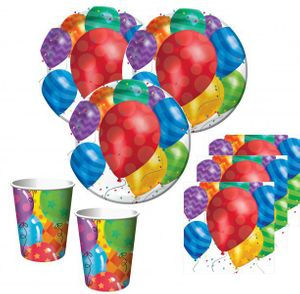 16 Servietten bunte Ballons Party