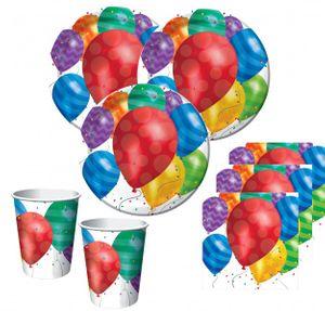[Paket] 32 Teile bunte Ballons Party Deko Set für 8 Personen