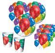 48 Teile bunte Ballons Party Deko Set für 16 Personen