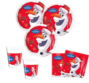 52 Teile Eiskönigin Olaf an Weihnachten Deko Set für 16 Kinder