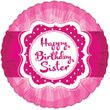 Folien Ballon Perfectly Pink Birthday Sister
