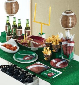 4 Kuchen Kerzen Picker Football Superbowl