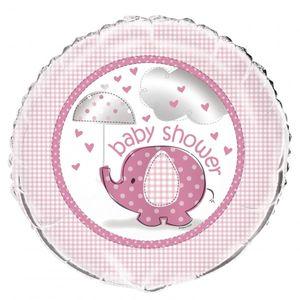 Folienballon Baby Elefant rosa