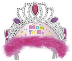 Baby Shower Tiara Mom to Be in Rosa