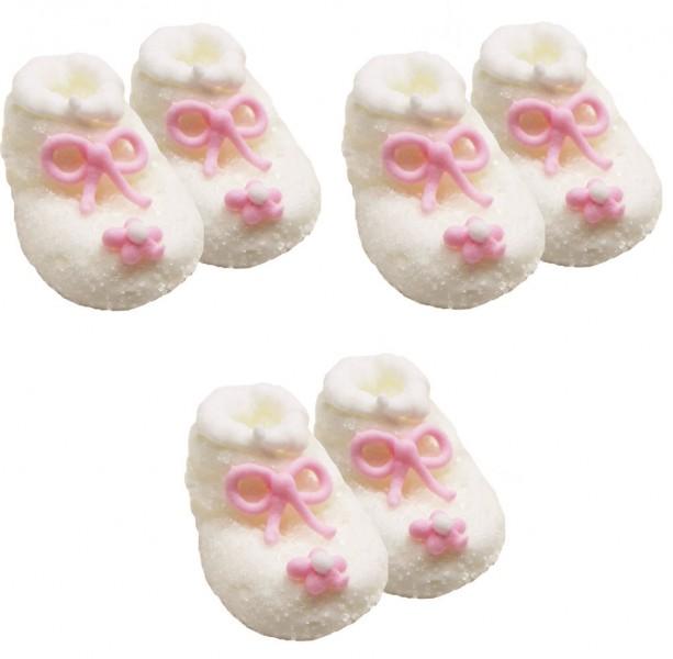 100% authentic d91be 023d6 Zuckerfiguren Baby Schühchen Weiß Rosa