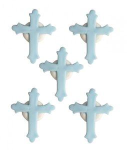 Zuckerfiguren Kreuz Blau