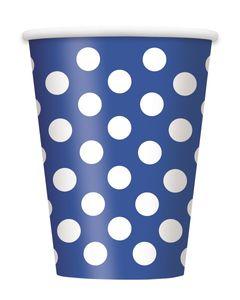 50 Teile Party Set Blau mit weißen Punkten für 16 Personen – Bild 3