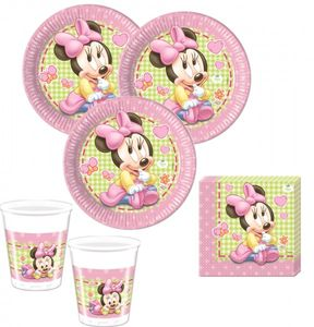 36 Teile Disney Baby Minnie Party Deko Set für 8 Personen – Bild 1