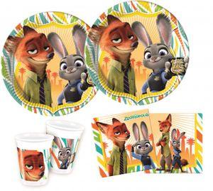 36 Teile Disney's Zoomania Party Set für 8 Kinder