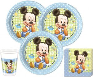 74 Teile Disney Baby Micky Party Deko Set 16 Personen – Bild 2