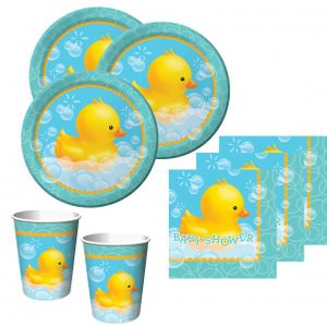 48 Teile Baby Shower Entchen Babyshower Set für 16 Personen