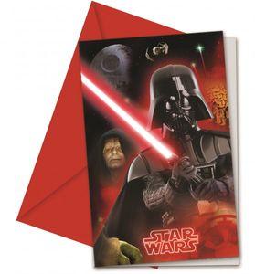 6 Einladungskarten Star Wars Classic