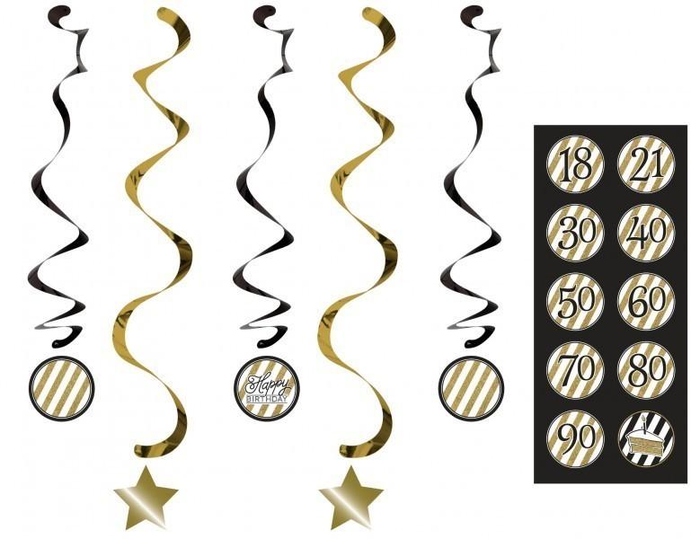 34 teile dekorations set zum 60 geburtstag oder jubil um party deko in schwarz gold. Black Bedroom Furniture Sets. Home Design Ideas