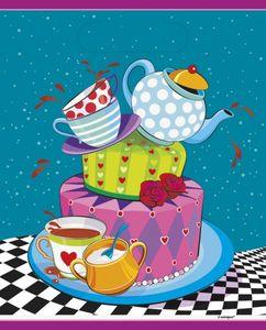 8 Party Tütchen Tee Party verrückter Hutmacher