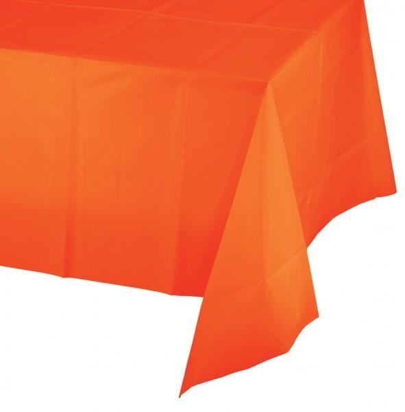 plastik tischdecke in orange. Black Bedroom Furniture Sets. Home Design Ideas