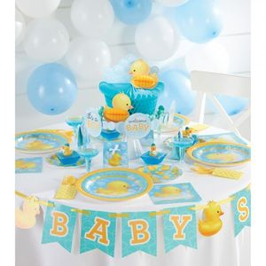 XXL 61 Teile Baby Entchen Babyshower Baby Party Deko Set 16 Personen – Bild 7