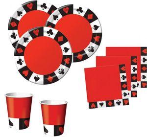 48 Teile Poker Motto Party Basis Deko Set 16 Personen
