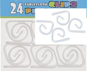 24 durchsichtige Tischtuch Klips