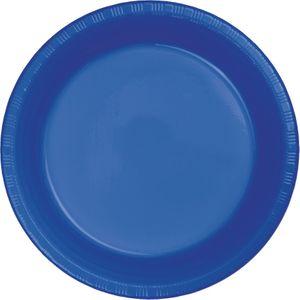 20 kleine Plastik Teller Cobalt Blau