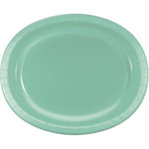 8 ovale Papp Teller Mint – Bild 1